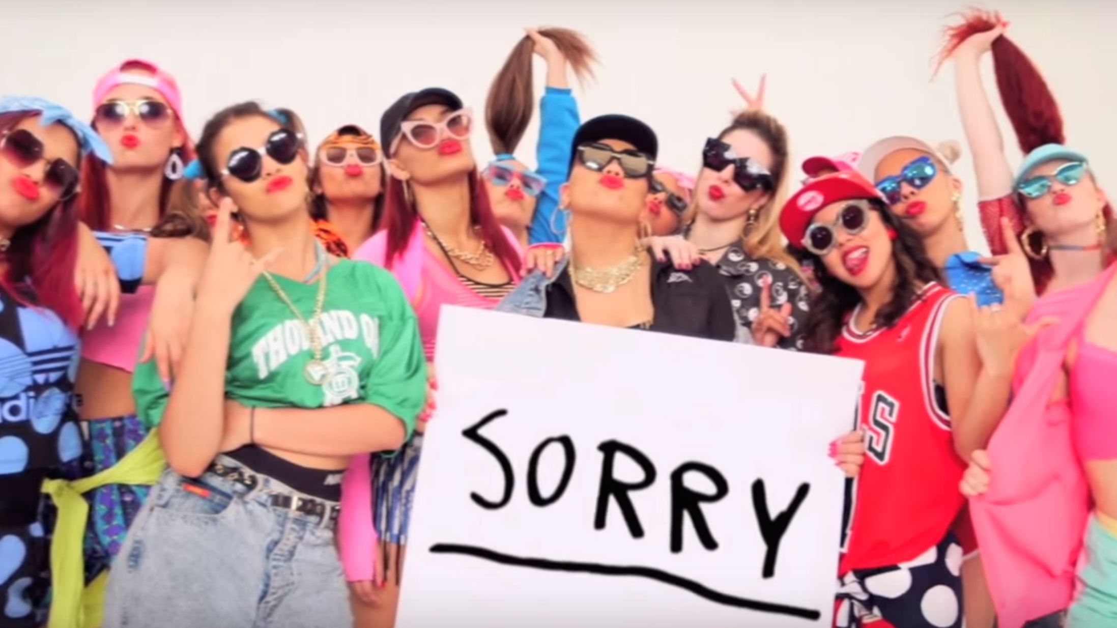 Justin Bieber's Epic Sorry' Video: All-Girl Dance Crews and '90sNeon