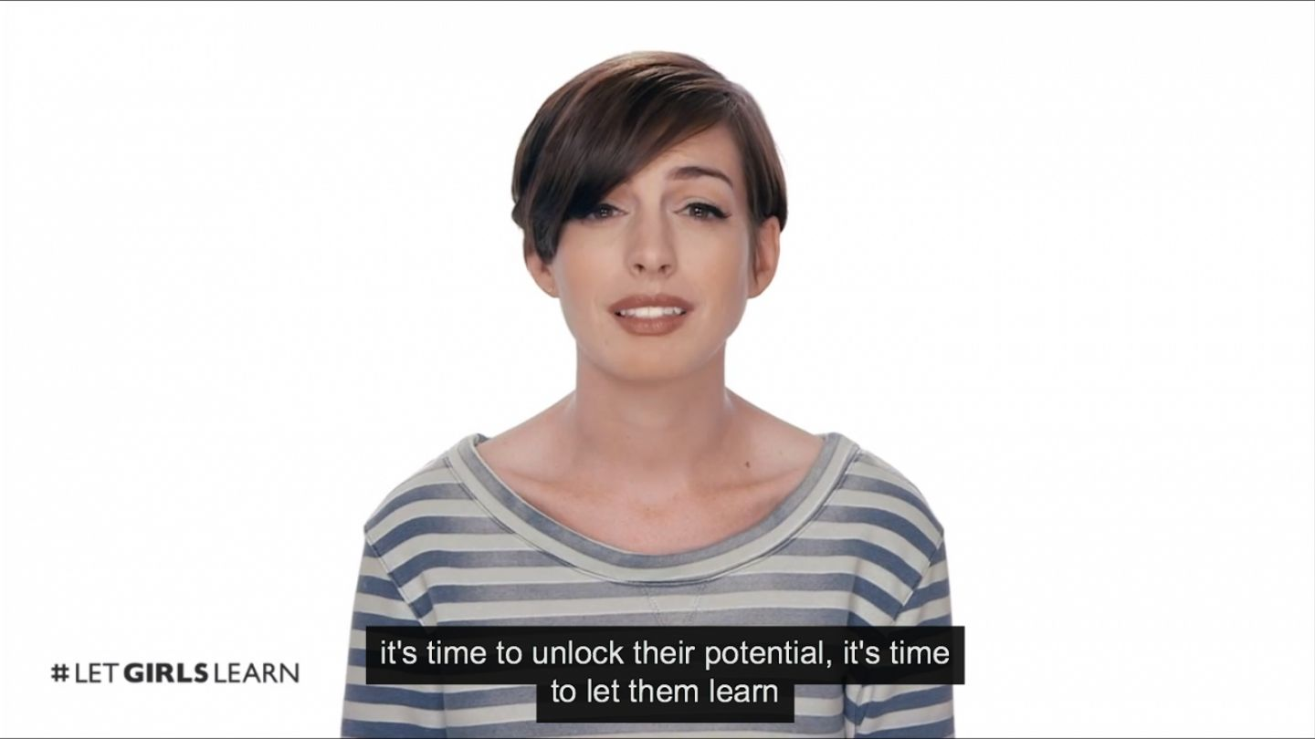 Anne Hathaway Wants You To 'Let Girls Learn'
