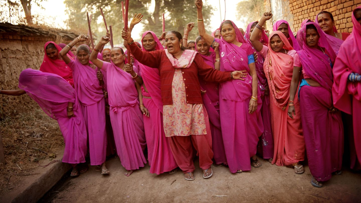 Wearing All Pink, A Group Of Women In India Takes Justice Into Their Own Hands