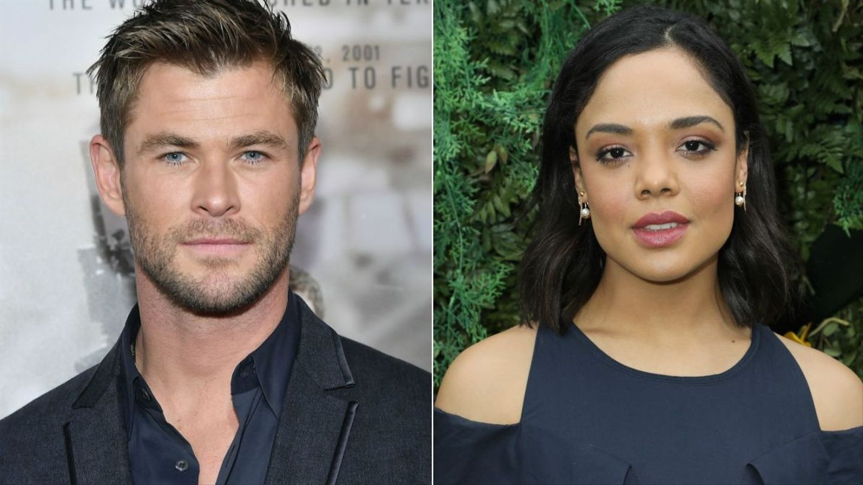 Chris Hemsworth And Tessa Thompson Depart Asgard For Men In