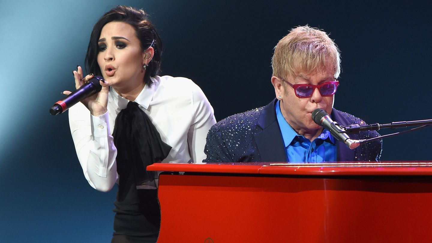 Watch Demi Lovato And Shawn Mendes Rock Out With Elton John