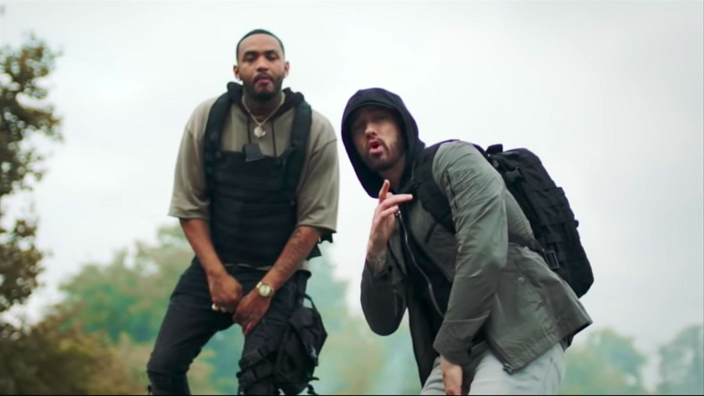 Eminem's 'Lucky You' Video Sends A Message To Young Rappers
