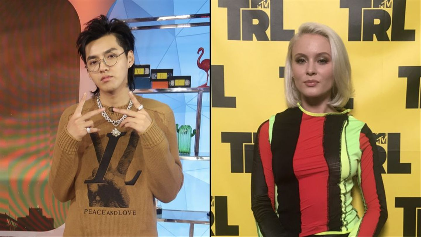 Kris Wu And Zara Larsson Met Up And Hugged On 'trl' This Morning