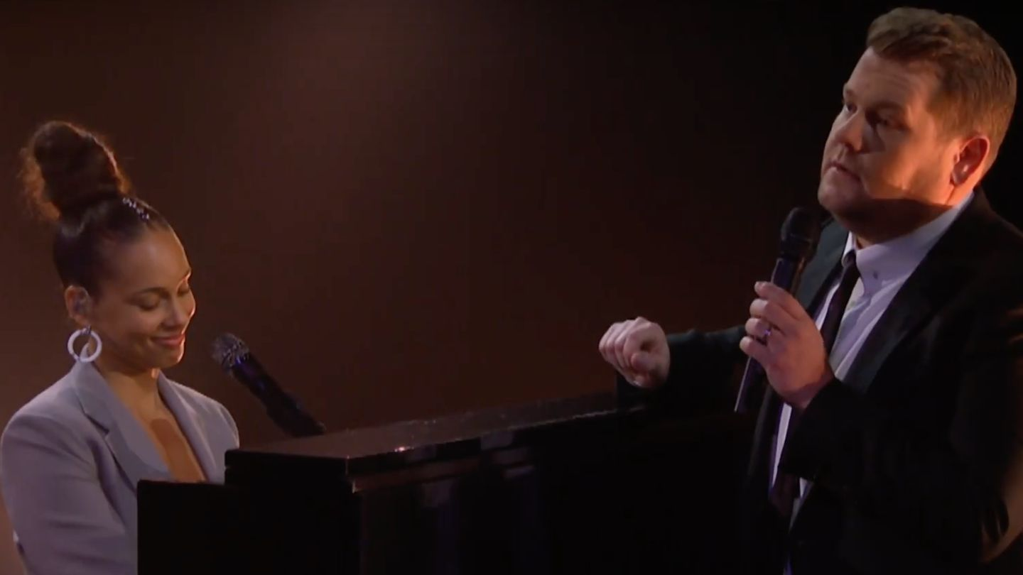 Alicia Keys Gets A Grammys Pep Talk In Updated 'shallow' Cover With James Corden