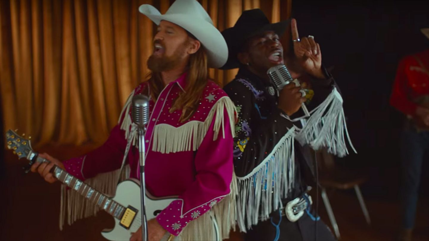 Lil Nas X And Billy Ray Cyrus Gallop To The Future In 'Old Town Road' Video