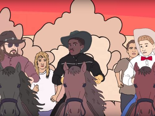 Lil Nas X, Billy Ray Cyrus, Young Thug, And Mason Ramsey Are Cartoon Invaders Of Area 51 In New Video