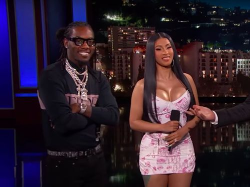 Cardi B And Offset Enlist Jimmy Kimmel To Explain 'Clout' For Geezers