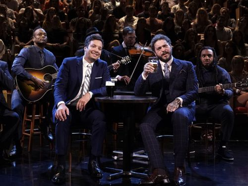Post Malone Reflects On His Imaginary Wife's Infidelity With An Irish Folk Song On Fallon