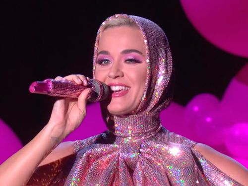 Katy Perry Brought A Giant Pink Poodle Onstage For Her Ellen Performance