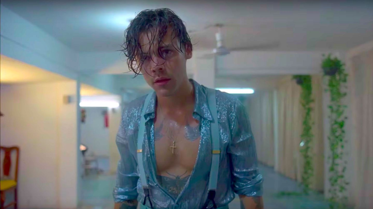 Harry Styles Launches A Very Wet And Very Shirtless New