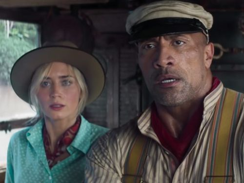 See Emily Blunt Accidentally Punch Dwayne Johnson In The Face In New Jungle Cruise Trailer