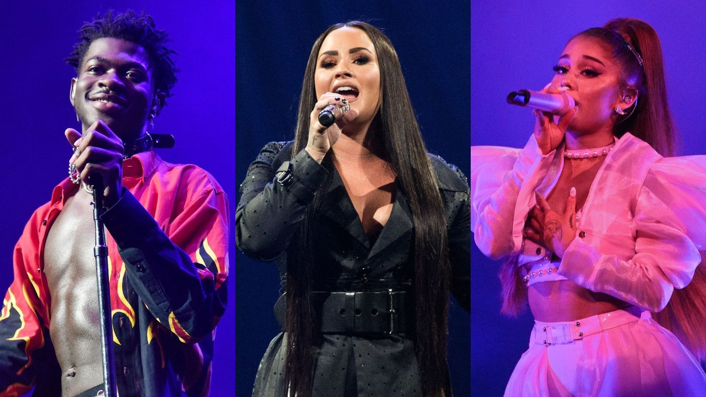 lil nas x demi lovato ariana grande and everyone else who will perform at the 2020 grammys mtv lil nas x demi lovato ariana grande