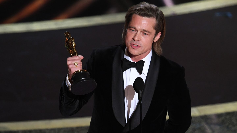 Brad Pitt Is Happy Riding Leonardo DiCaprio's 'Coattails' In Heartfelt Oscars Speech