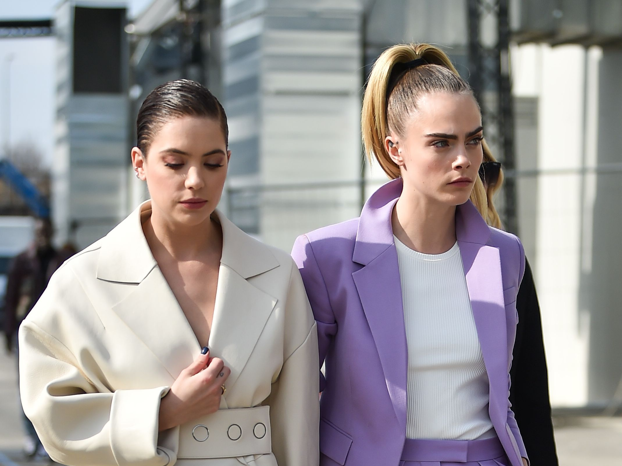 Cara Delevingne And Ashley Benson Attend Milan Fashion Week Mtv