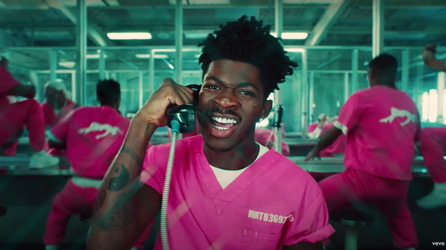 Lil Nas X Dances Naked And Stages A Jailbreak In Daring 'Industry Baby' Video thumbnail