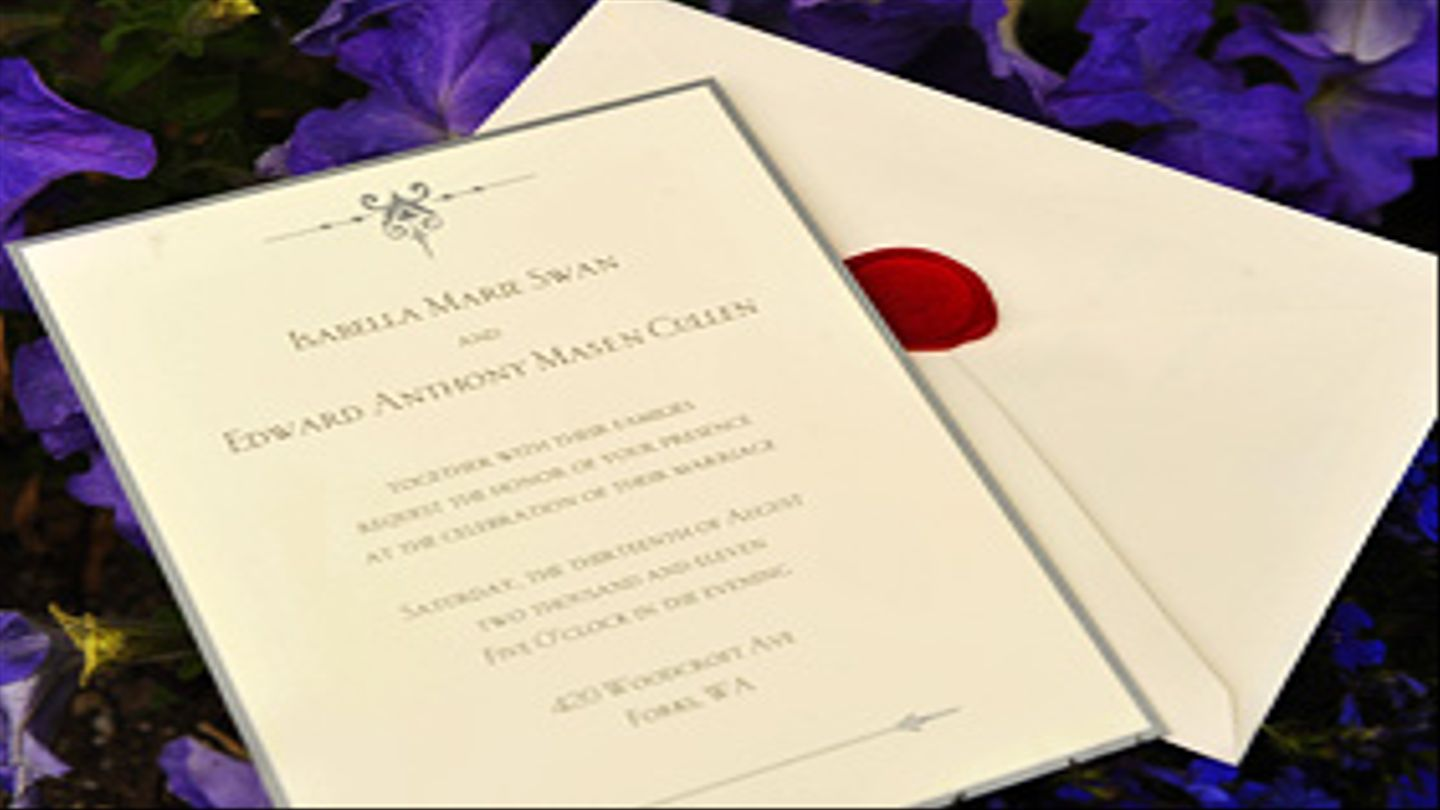 Breaking Dawn Wedding Invitation What Does It Reveal Mtv