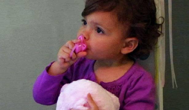 Baby Sophia loves her pacifier!