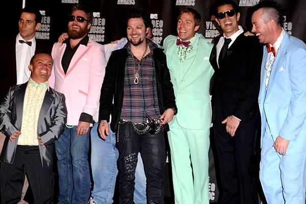 The cast of 'Jackass' at the 2010 VMAs on September 12, 2010.