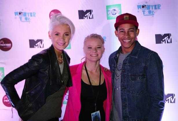 MTV Winter House Party: Bathurst - Kate Peck, winner Julia Fitzgerald, and Keiynan Lonsdale.