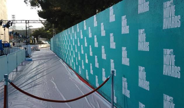 MTV Press: Red carpet setup #MovieAwards.
