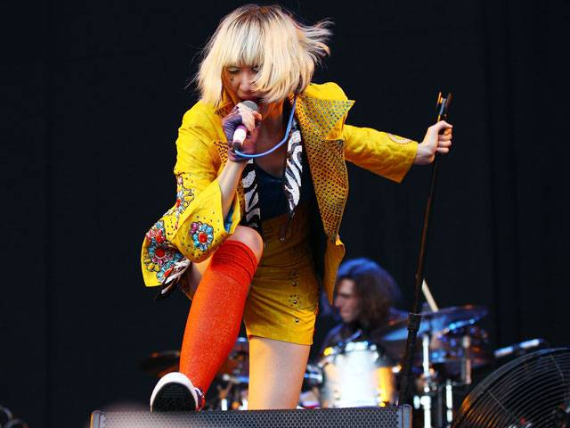 Karen O of the Yeah Yeah Yeahs at the Big Day Out 2013 in Sydney