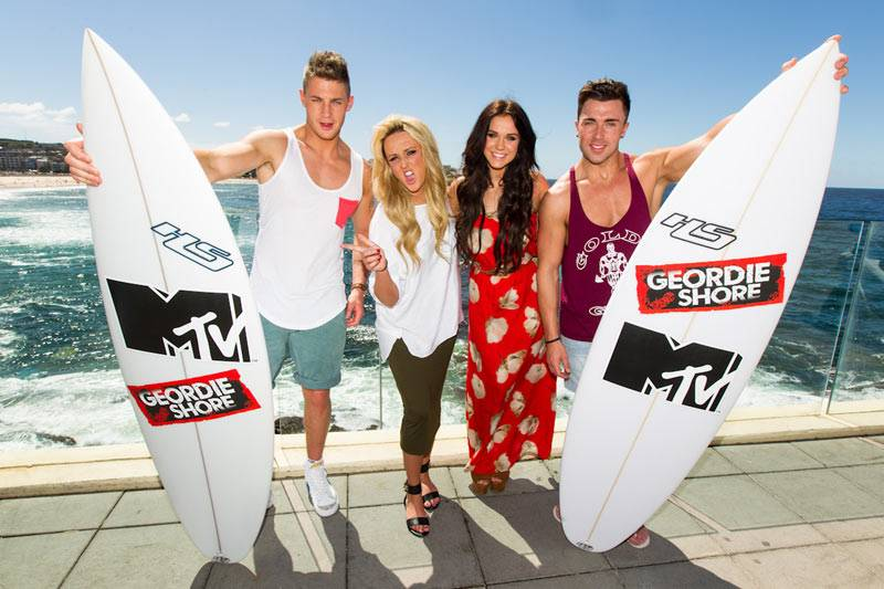 Geordie Shore: Season 6 - Scott, Charlotte, Vicky and James in Bondi on Tuesday March 5, 2013.