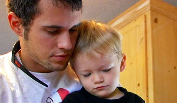 Ryan spends time with son Bentley.
