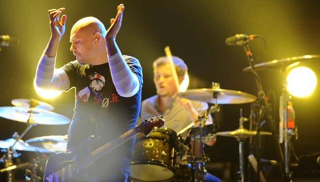 The Smashing Pumpkins performing live onstage at 'Splendour in the Grass' at Belongil Fields, Byron Bay - 29 July 2012.