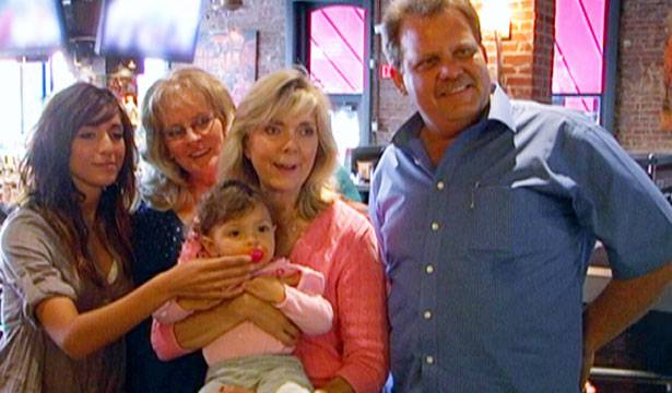 Farrah introduces baby Sophia to her paternal grandparents.