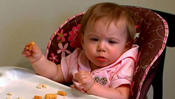 Baby Aubree is hungry!