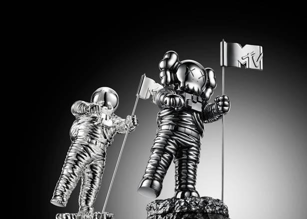 The VMA Moonman reimagined by Brooklyn artist KAWS.