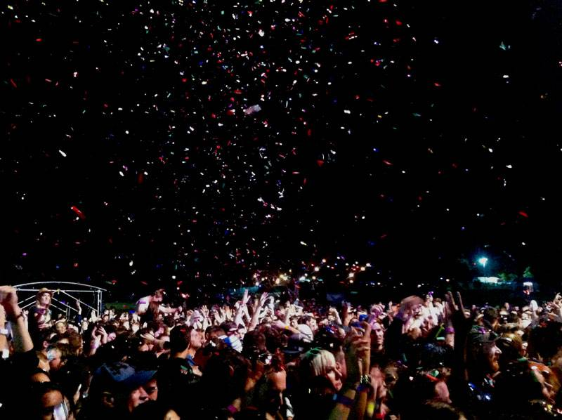 The crowd after Passion Pit's set at 'Parklife 2012' in Centennial Park, Sydney on September 30, 2012.