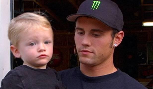 Ryan holds baby Bentley.