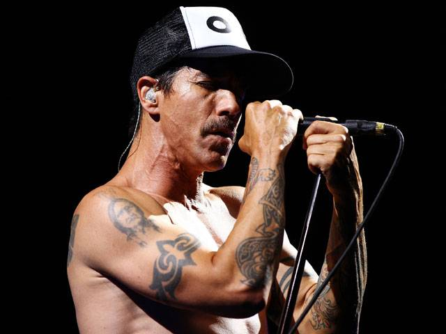 Anthony Kiedis from Red Hot Chili Peppers at the Big Day Out 2013 in Sydney
