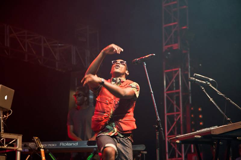 Labrinth performing live onstage at 'Parklife 2012' in Centennial Park, Sydney on September 30, 2012.