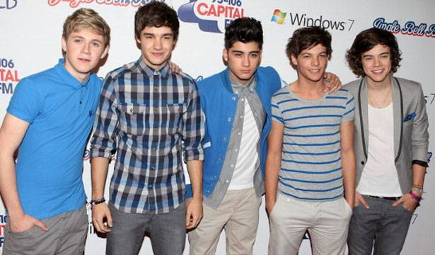 Niall Horan, Liam Payne, Zayn Malik, Louis Tomlinson and Harry Styles of One Direction attend day two of Jingle Bell Ball at O2 Arena on December 4, 2011 in London, England.