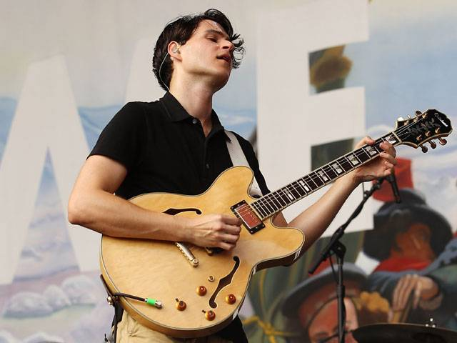 Ezra Koenig of Vampire Weekend at the Big Day Out 2013 in Sydney