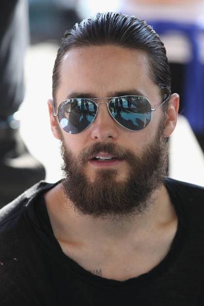 Jared Leto attends the Asher Levine Spring 2013 fashion show during Mercedes-Benz Fashion Week at Pier 81 Studio on September 9, 2012 in New York City.
