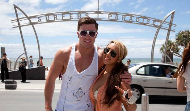 James and Sophie in Surfers Paradise.
