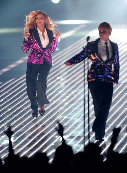 Beyonce struts the stage