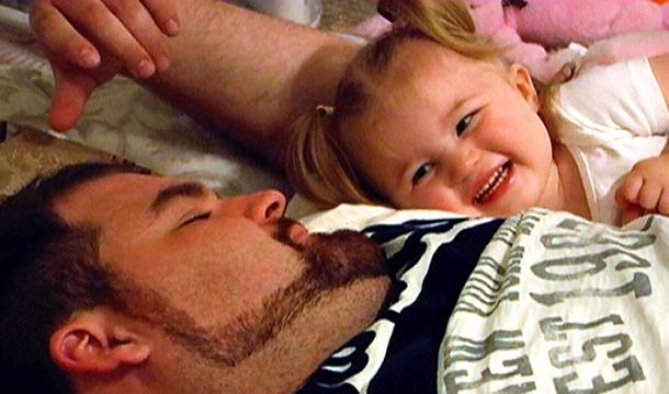 Gary and daughter Leah share a laugh.