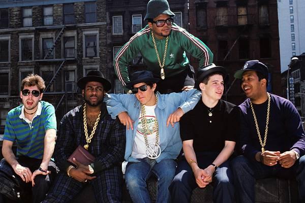 MCA, the Beastie Boys and Run-DMC in New York in 1987