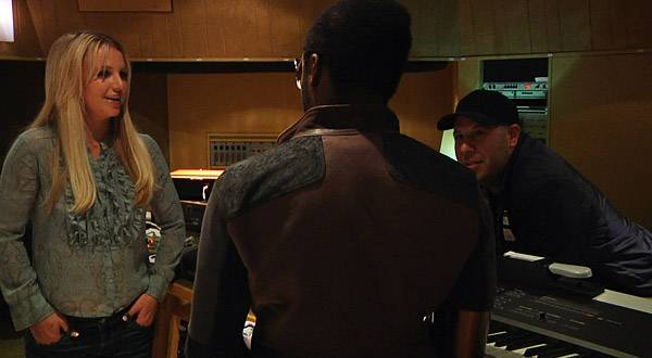 Britney in the recording studio with will.i.am.