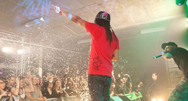 Lil Jon performing at MTV Snow Jam 2011.