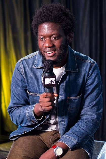 Our awesome MTV PUSH artist Michael Kiwanuka stops by backstage on day one of 'Splendour in the Grass 2012' at Belongil Fields, Byron Bay - 27 July, 2012.