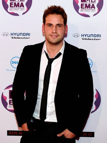 Geordie Shore's Greg arrives at the 2011 MTV EMA.