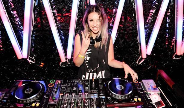 Alison Wonderland on the decks at MTV Winter at the Plaza Ballroom in Melbourne, 19 July 2012.