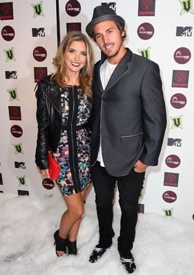 Audrina Patridge and Corey Bohan at MTV Snow Jam 2011.