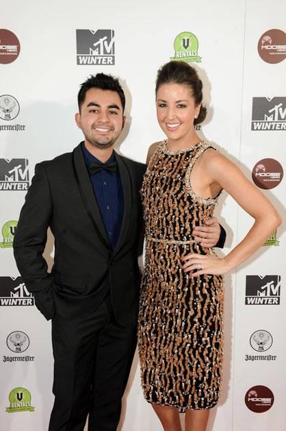 Jules Sebastian and MTV Style Me Contributor Carlos Diaz at MTV Winter at the Plaza Ballroom in Melbourne, 19 July 2012.