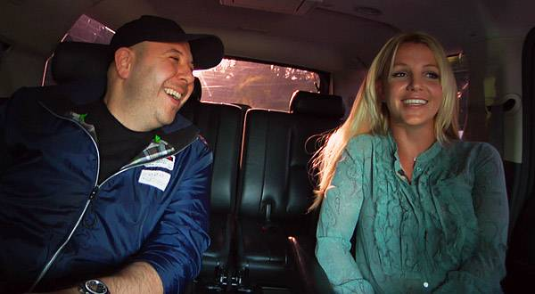 Britney's manager Adam Leber rides with her to meet will.i.am.